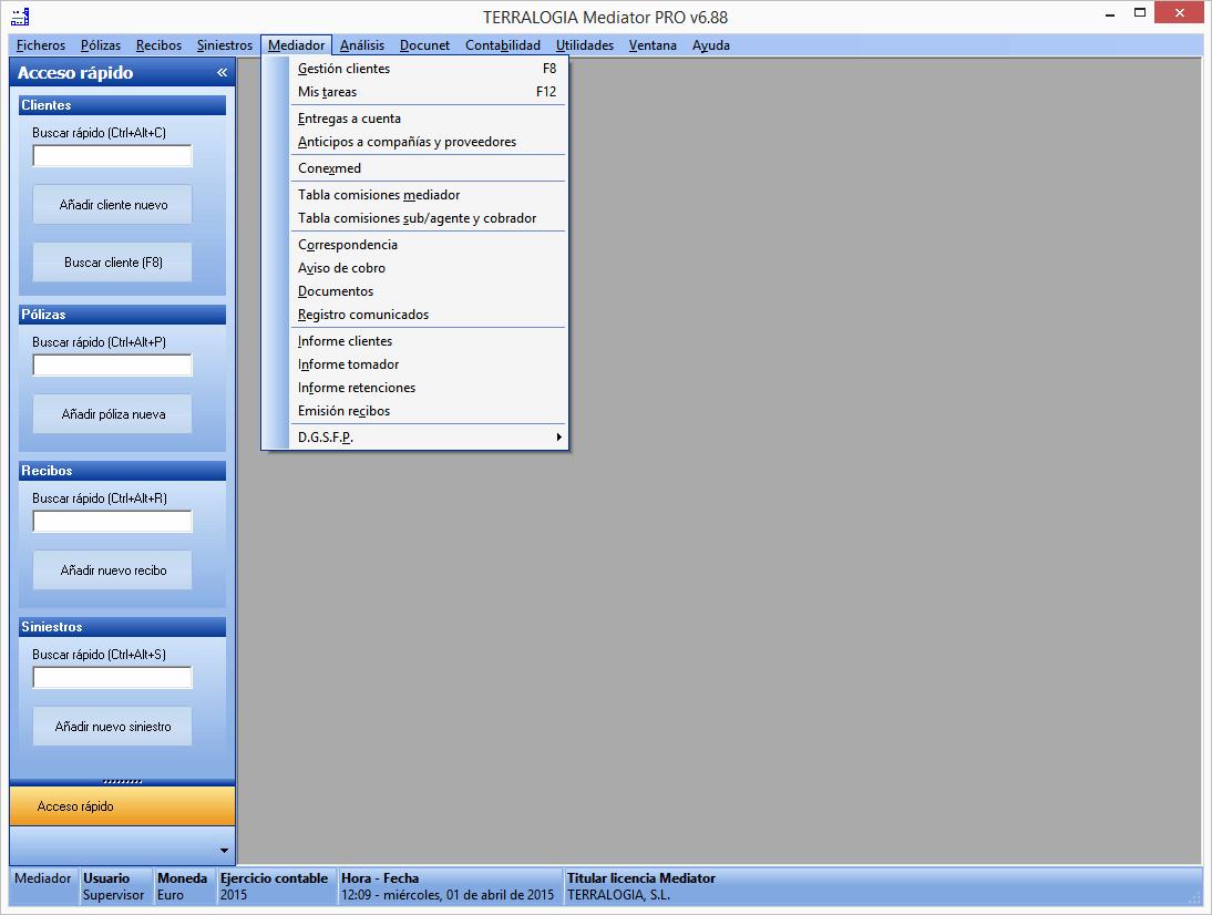 Mediator Software para Mediadores de Seguros