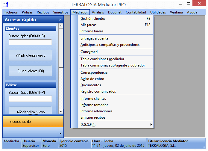 Mediator programa gestión seguros